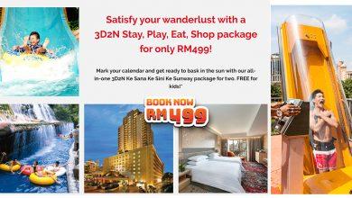 Photo of 3D2N KeSanaKeSini KeSunway Package @RM499!Free Breakfast + Free Theme Park + RM200 Voucher!